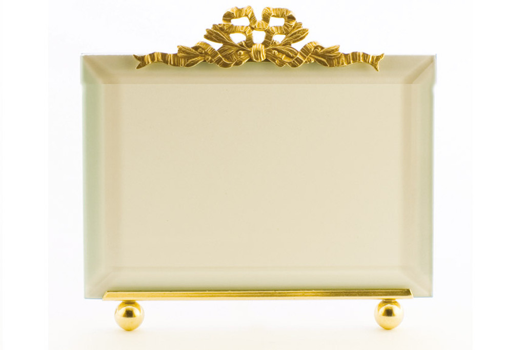 La Paris French Ribbon 8 x 10 Inch Brass Picture Frame - Horizontal