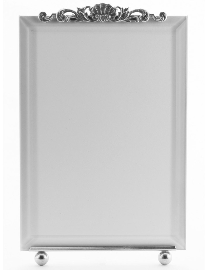 La Paris French Shell 5 x 7 Inch Silver Plated Picture Frame - Vertical