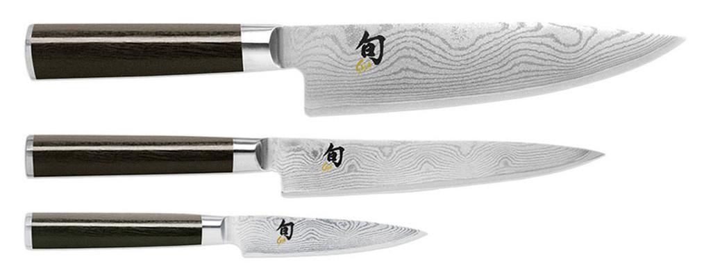 Shun Classic 3 Piece Starter Knives Cutlery Set MPN: DMS300