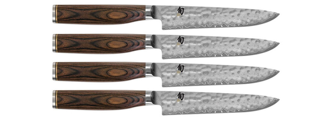 Shun Premier 4 Piece Steak Knives Cutlery Set MPN: TDMS0400
