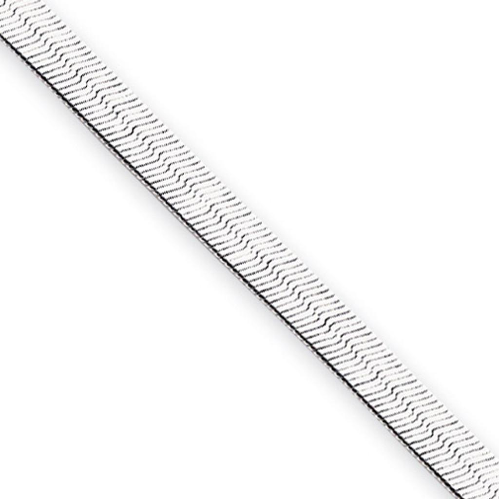 20 inch Rhodium-plated 4.5mm Silky Herringbone Necklace MPN: KW490-20