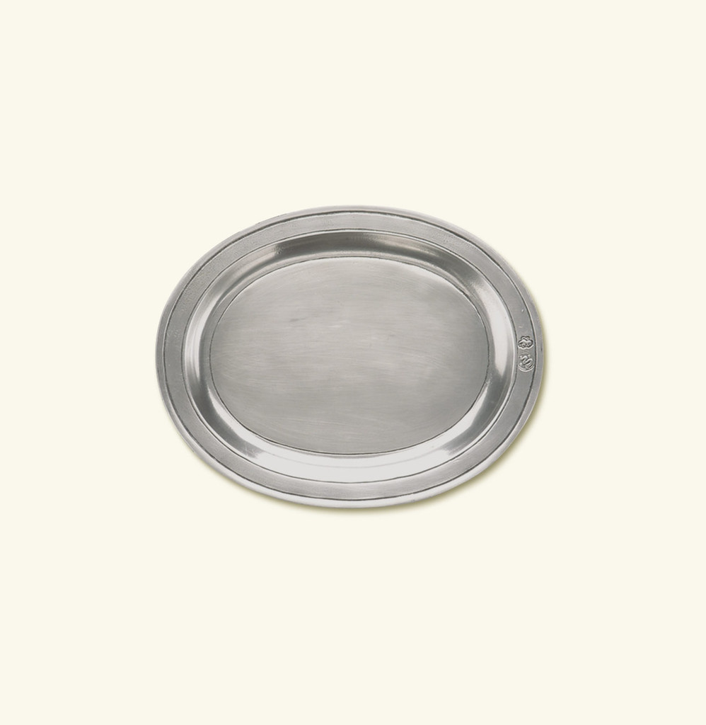 Match Pewter Oval Incised Tray Small 847.2