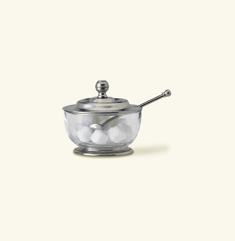 Match Pewter Sugar Bowl With Spoon 956