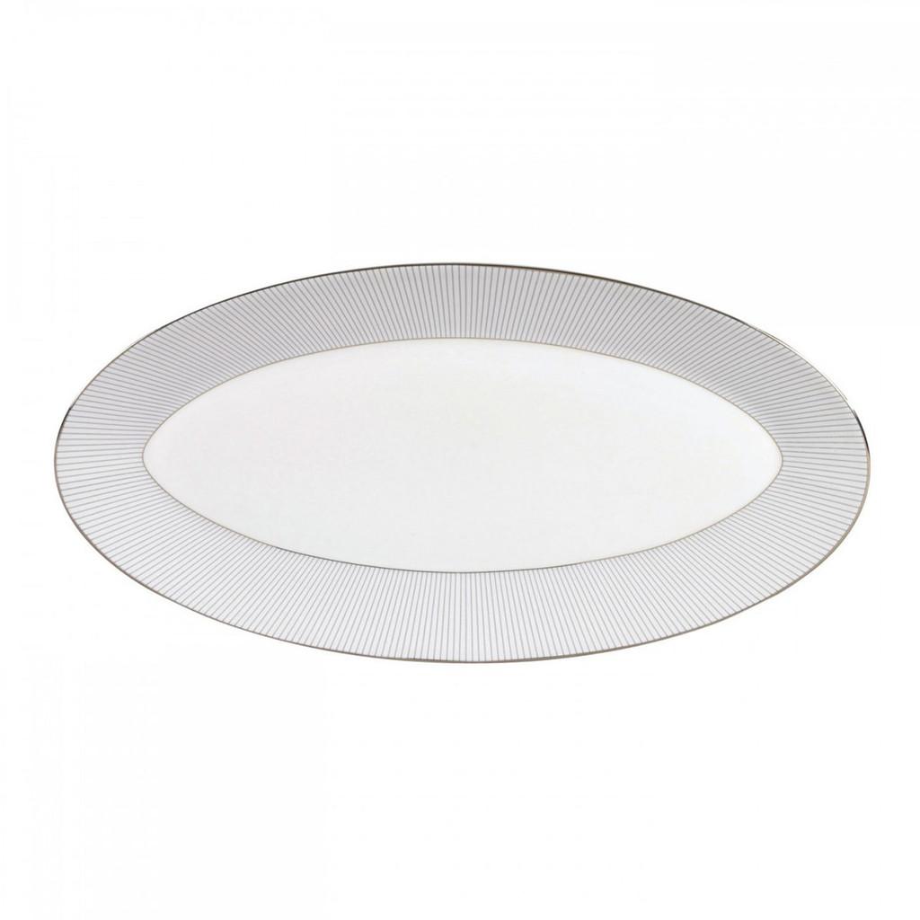 Wedgwood Jasper Conran Blue Pin Stripe Oval Platter 15.5 Inch MPN: 50150209525