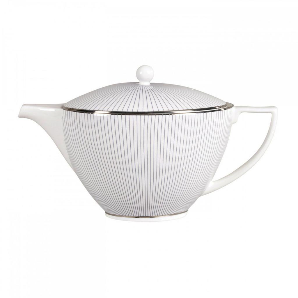 Wedgwood Jasper Conran Blue Pin Stripe Teapot 1.7 Pt MPN: 50150209555