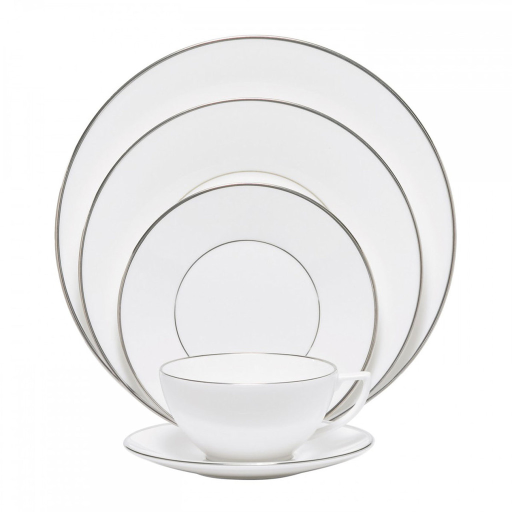 Wedgwood Jasper Conran Platinum Five 5 Piece Place Setting (Lined Only) MPN: 50161609033