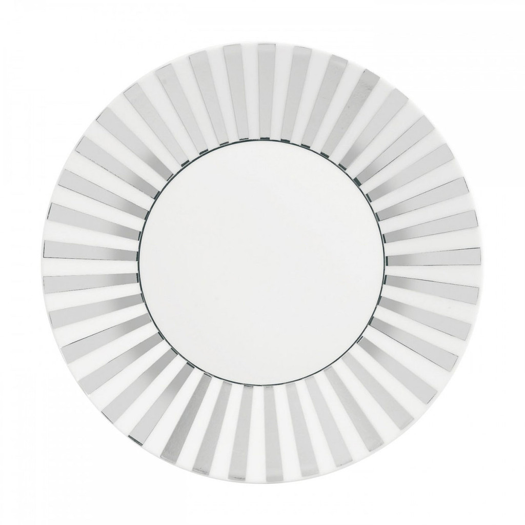 Wedgwood Jasper Conran Platinum Accent Salad Plate 9 Inch Striped  MPN: 50161609640
