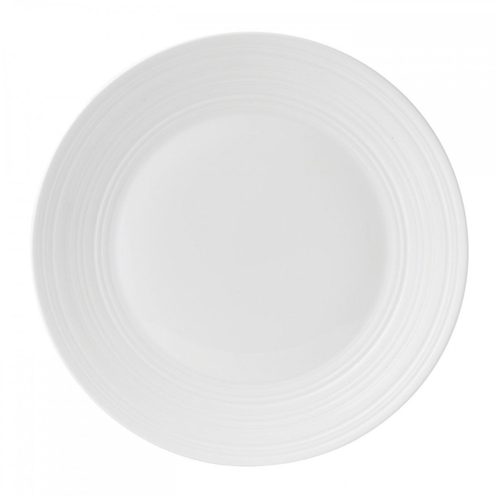 Wedgwood Jasper Conran White Bone China Dinner Plate Swirl 11 Inch MPN: 50191309580