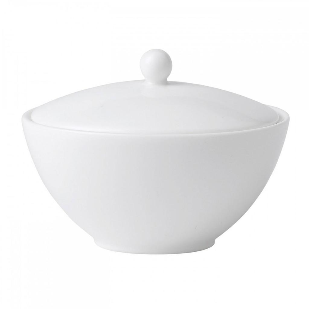 Wedgwood Jasper Conran White Bone China Covered Sugar MPN: 50191309561