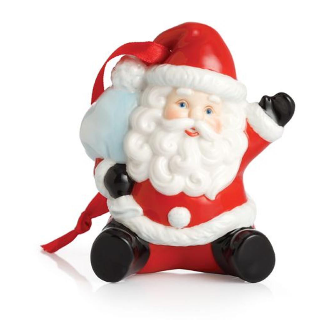 Franz Porcelain Holiday Greetings Santa Ornament FZ02450