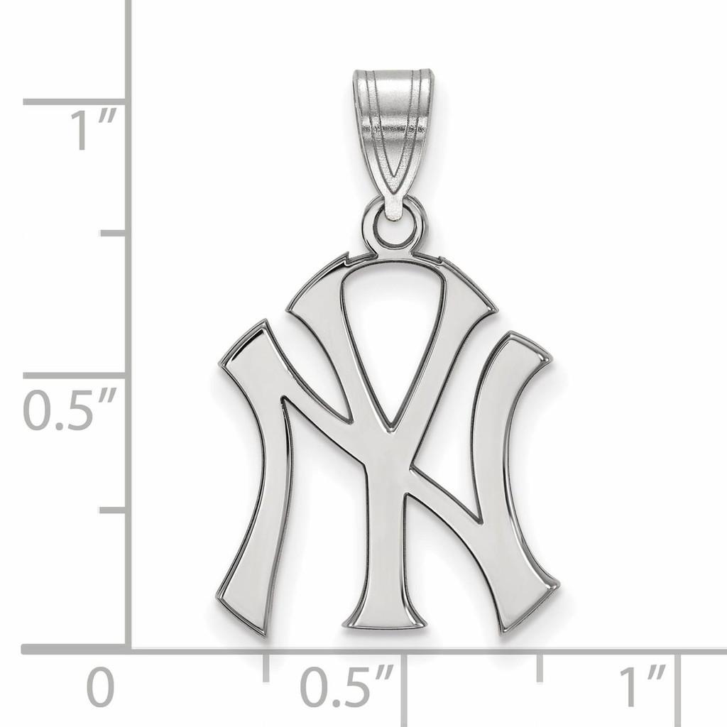 New York Yankees Large Pendant Sterling Silver SS004YAN