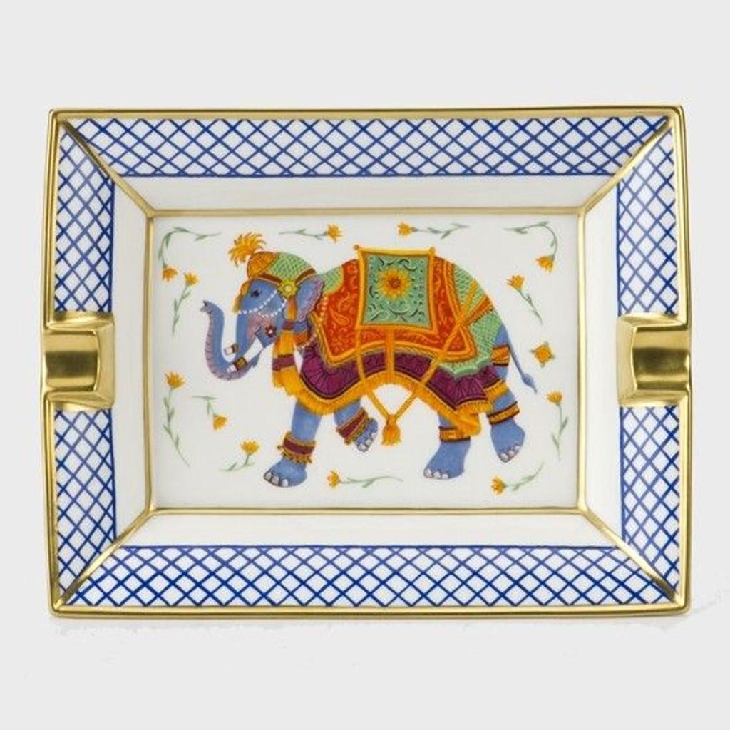 Halcyon Days Indian Elephant Ashtray Trellis BCCIE03ASG EAN: 5060171120711