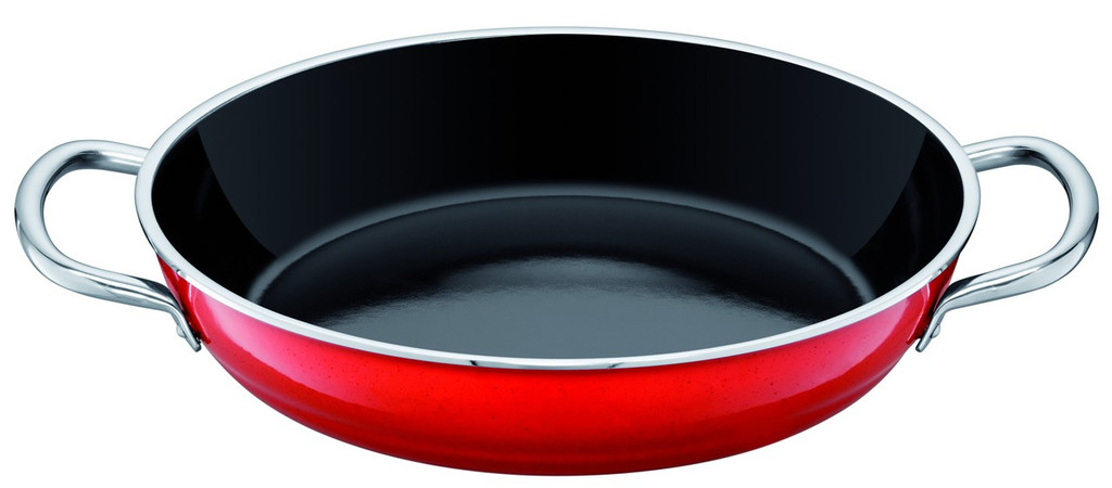 Silit Passion Colors Fry Serve Pan 11 Inch with Stainless Handles Energy Red MPN: 91.1928.1748