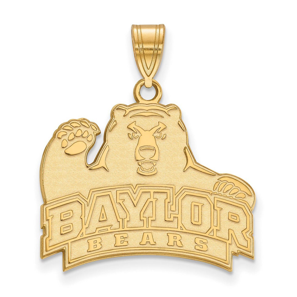 Baylor University Large Pendant in Gold-plated Silver by LogoArt MPN: GP004BU
