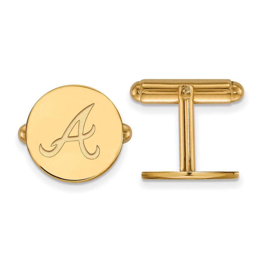 Atlanta Braves Cufflinks in Gold-plated Silver by LogoArt MPN: GP007BRA