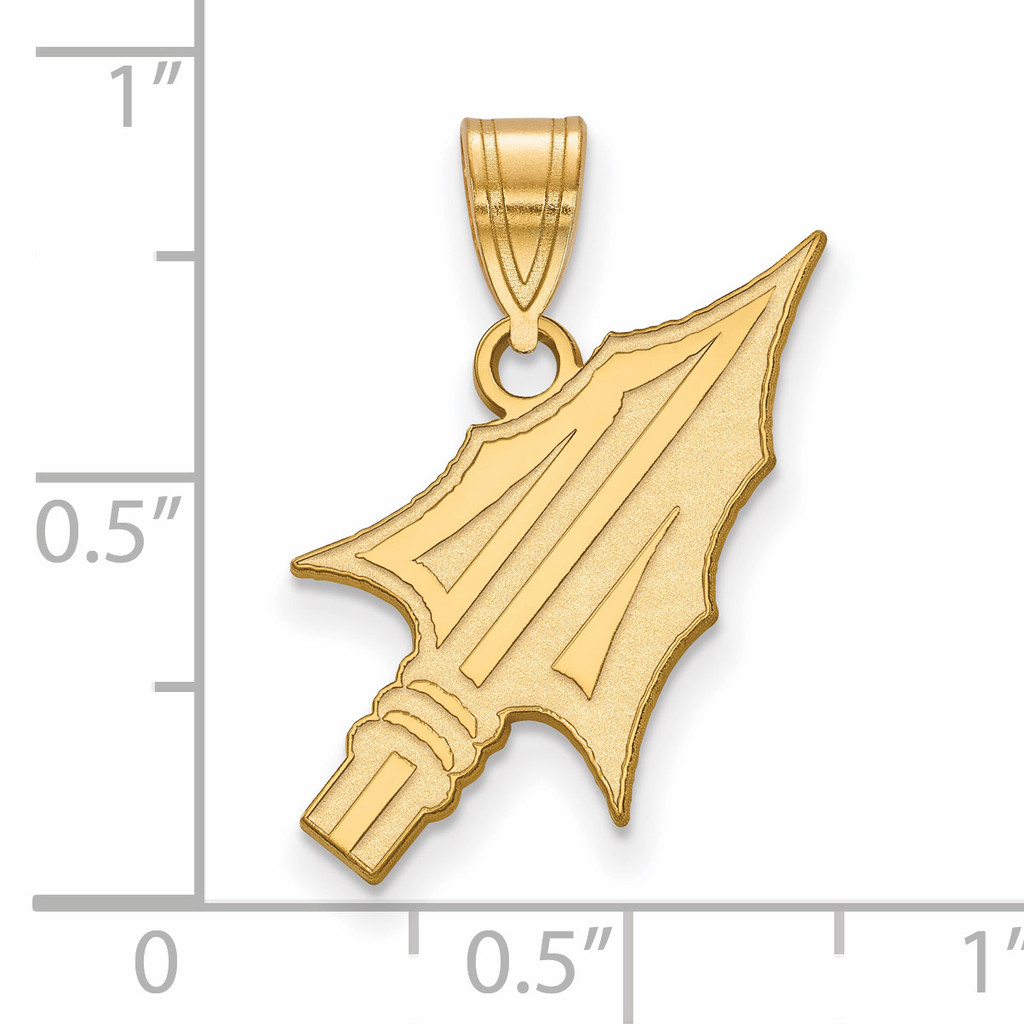 With measurement & size Florida State University Large Pendant Gold-plated Silver GP073FSU