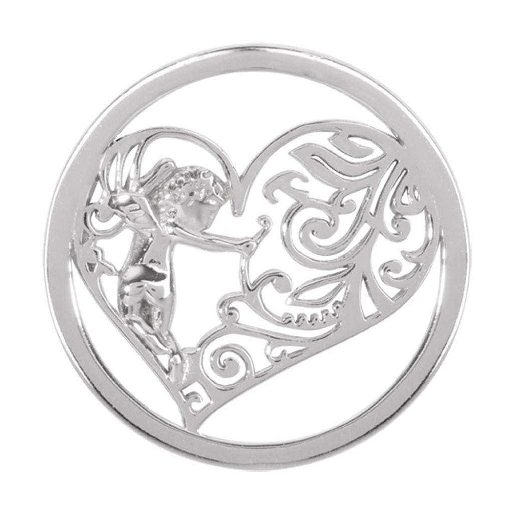 Nikki Lissoni Cupids Heart Silver-Plated 33mm Coin MPN: C1177SM EAN: 8718627464670