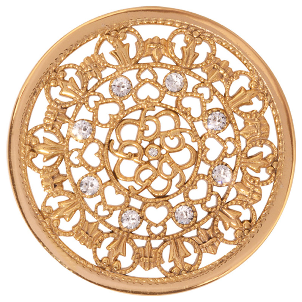 Nikki Lissoni Curly Fantasy Gold-Plated 43mm Coin MPN: C1250GL EAN: 8718627465905