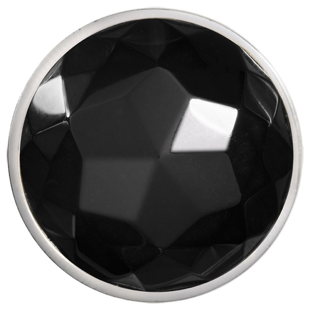 Nikki Lissoni Faceted Black Agate Silver-Plated 43mm Coin MPN: C1365SL EAN: 8718627469125