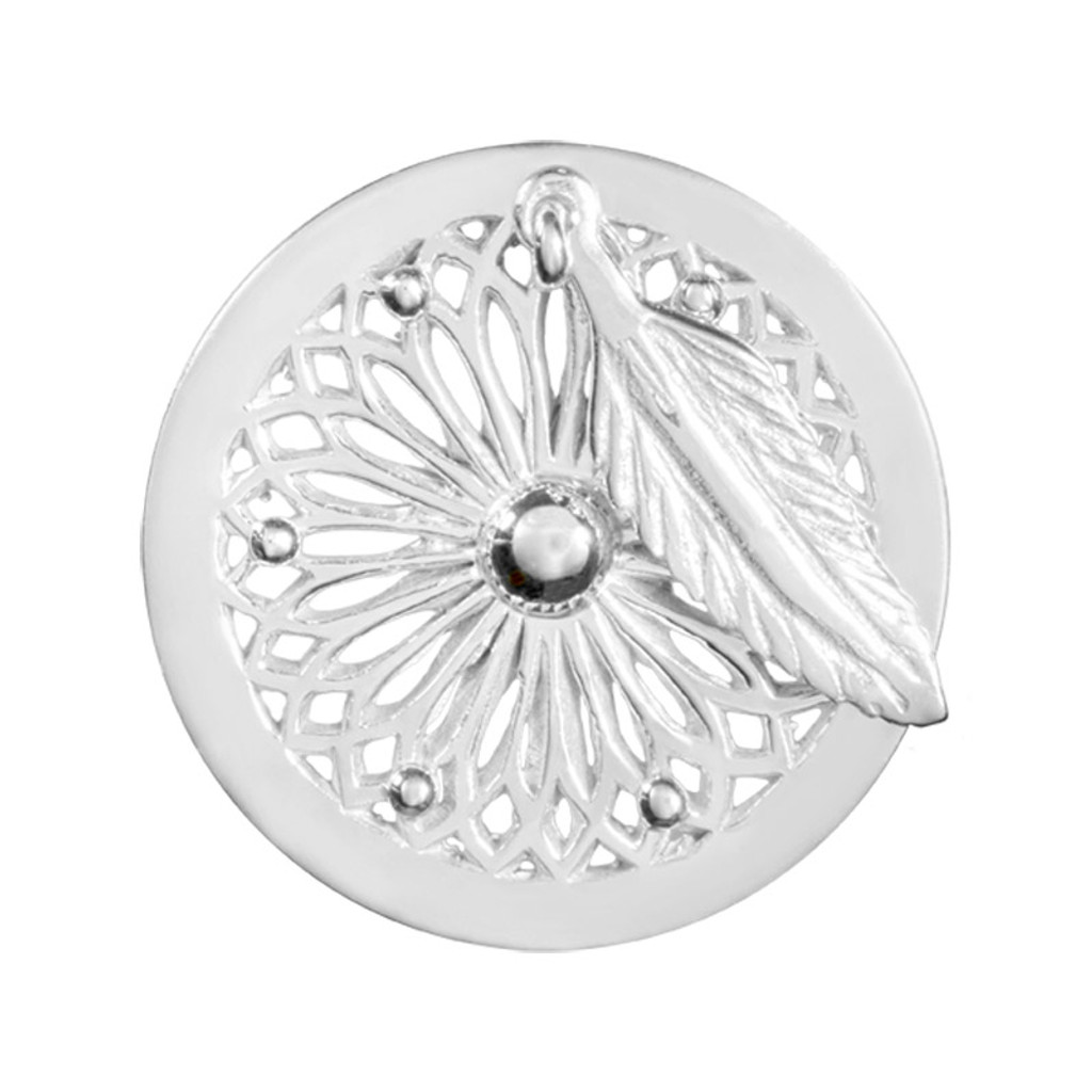 Nikki Lissoni Dreamcatcher Dangle Silver-Plated 23mm Coin MPN: C1406SS EAN: 8718627469576