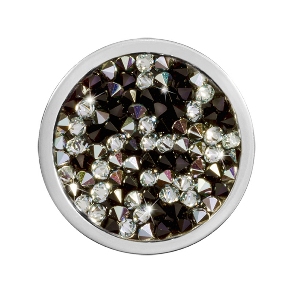 Nikki Lissoni Black White Rock Crystal Silver-Plated 23mm Coin MPN: C1424SS EAN: 8718627469750