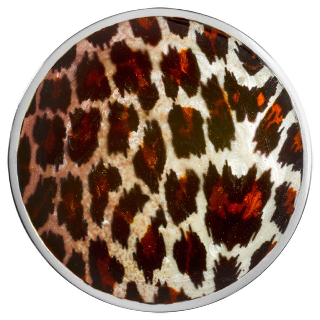 Nikki Lissoni Leopard Print Silver-Plated 43mm Coin MPN: C1444SL EAN: 8718627469958