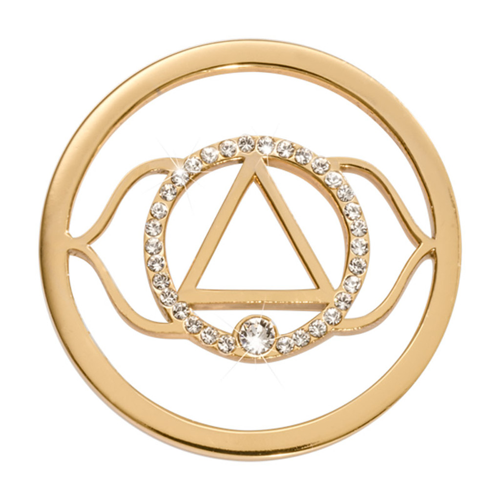 Nikki Lissoni 7Th Chakra Ajna Violet Intuition The Ability To See with Vision Gold-Plated 33mm Coin MPN: C1498GM EAN: 8718819232995