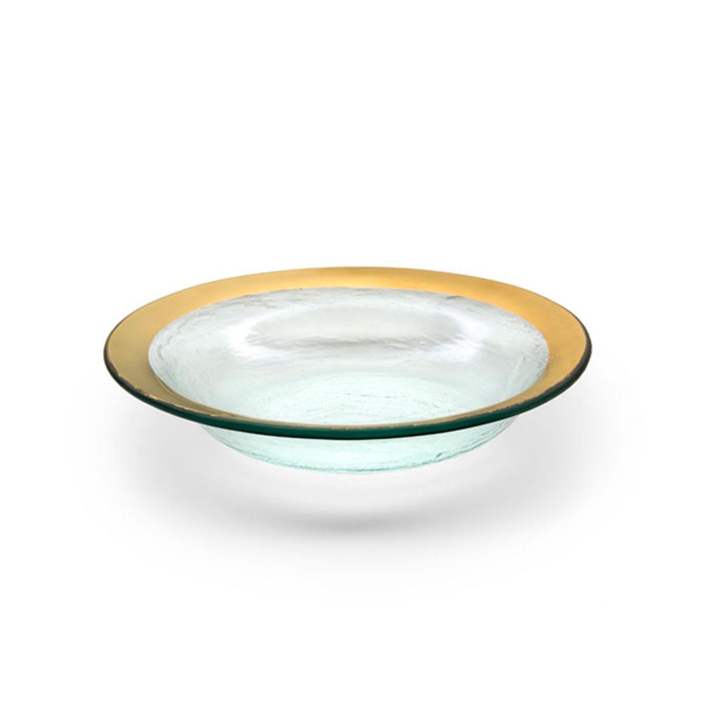 Annieglass Gold Roman Antique Deep Bowl 15 Oz 9 Inch MPN: G105