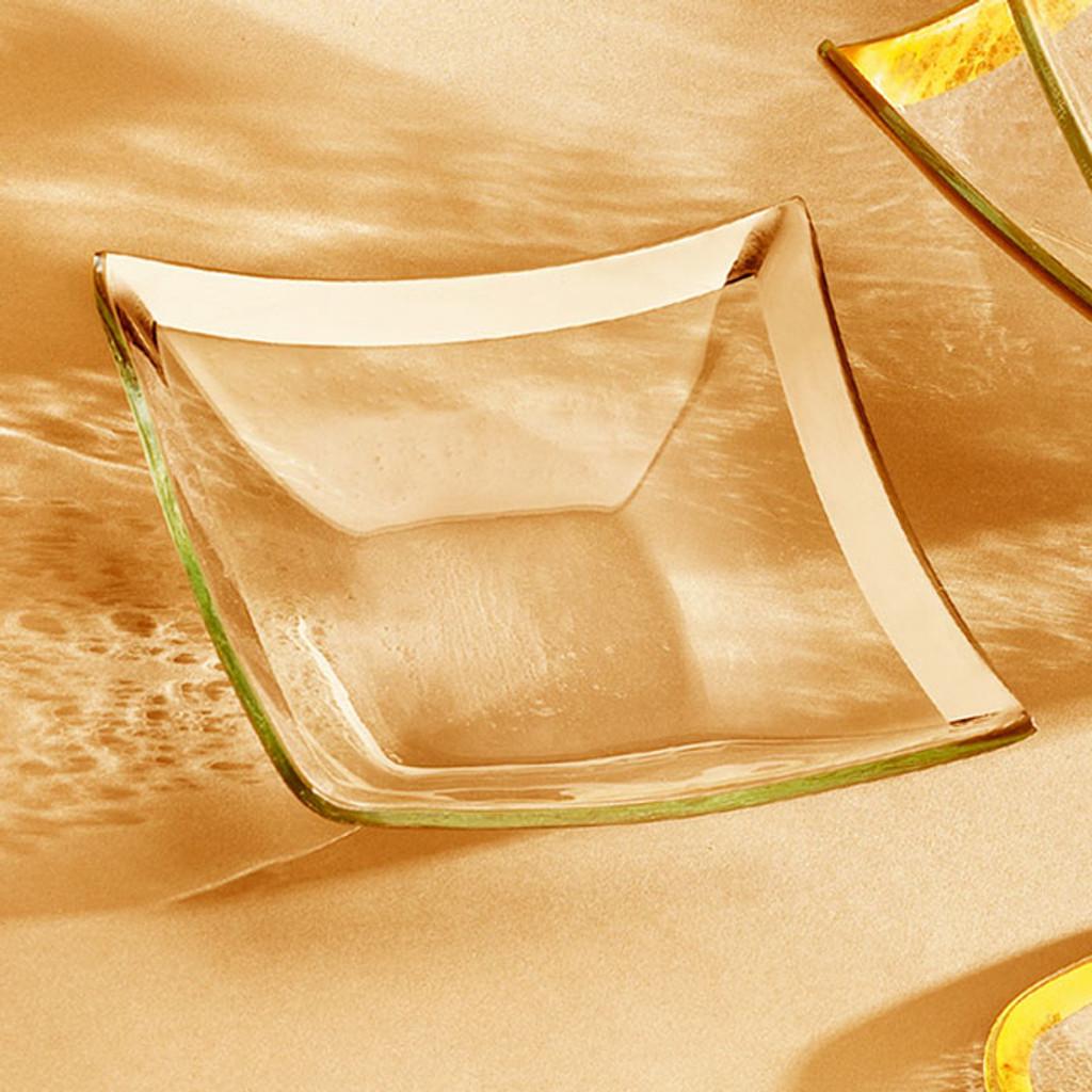 Annieglass Gold Roman Antique Small Four Point Bowl 7 1/2 x 7 1/2 Inch MPN: G176