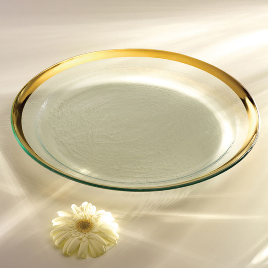 Annieglass Gold Roman Antique Round Pasta Bowl 17 Inch MPN: G199