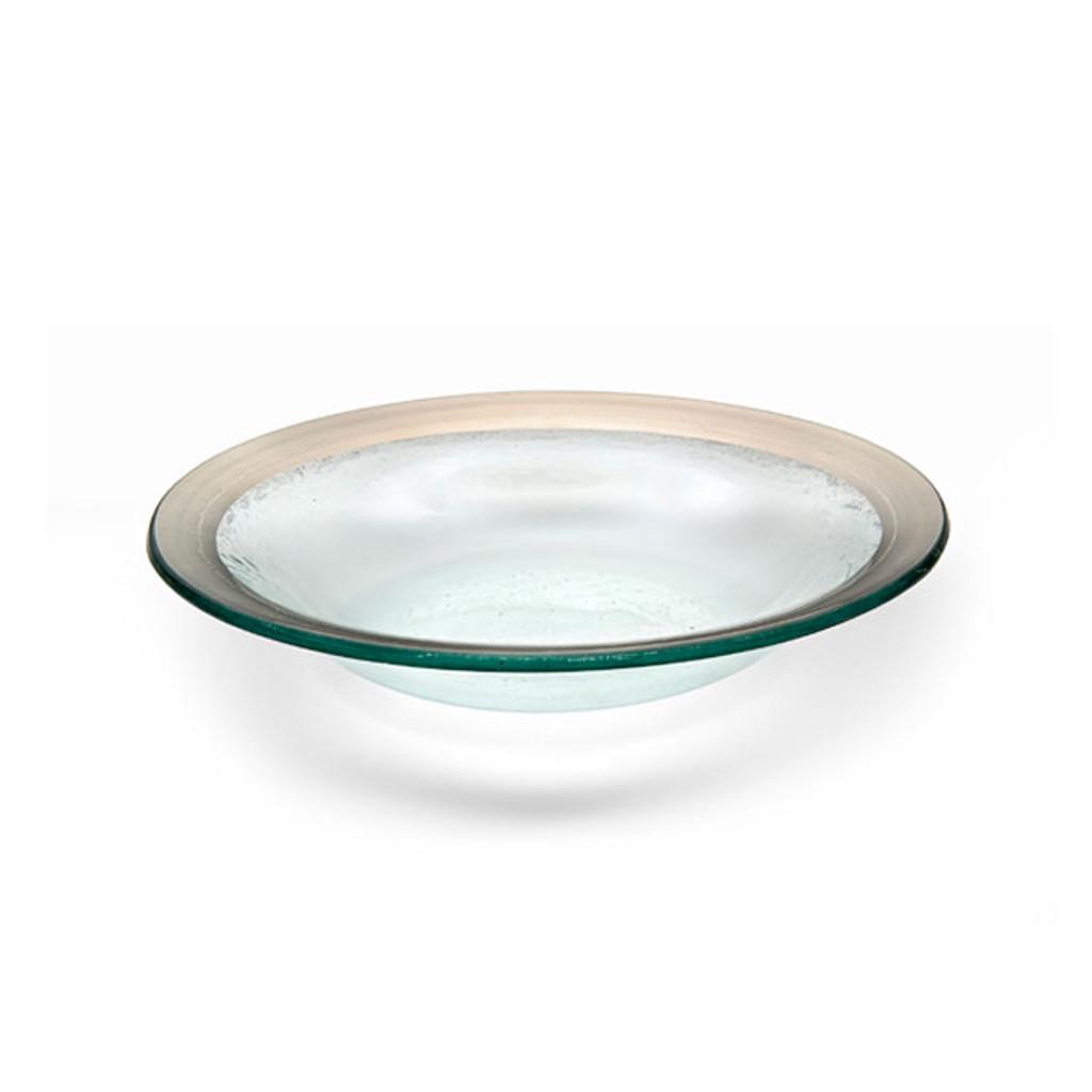 Annieglass Platinum Roman Antique Deep Bowl 15 Oz 9 Inch MPN: P105