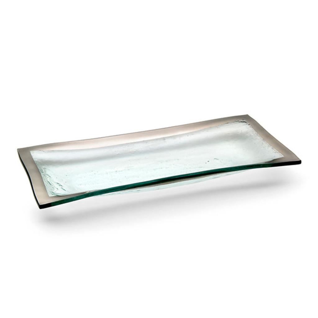 Annieglass Platinum Roman Antique Olive Tray 11 x 5 Inch MPN: P143