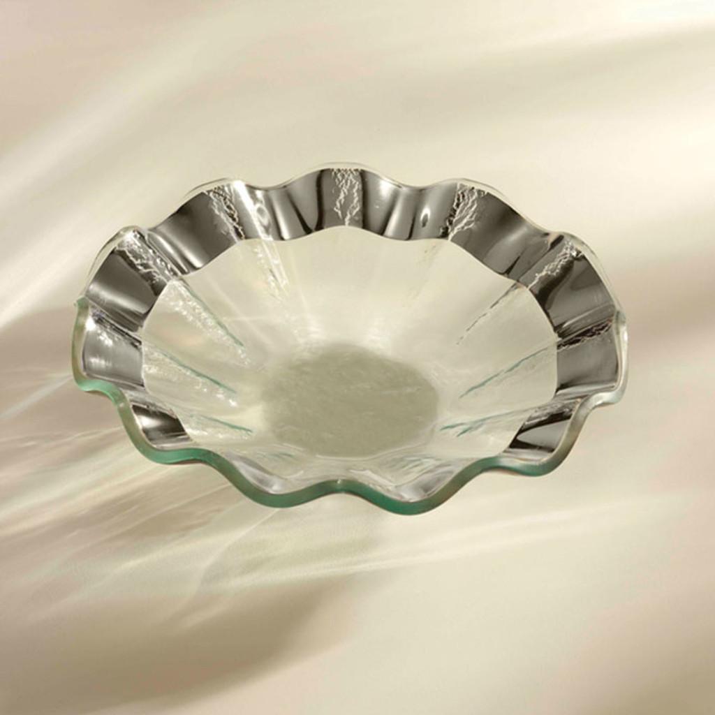 Annieglass Ruffle Platinum Bowl 7 Inch MPN: P135