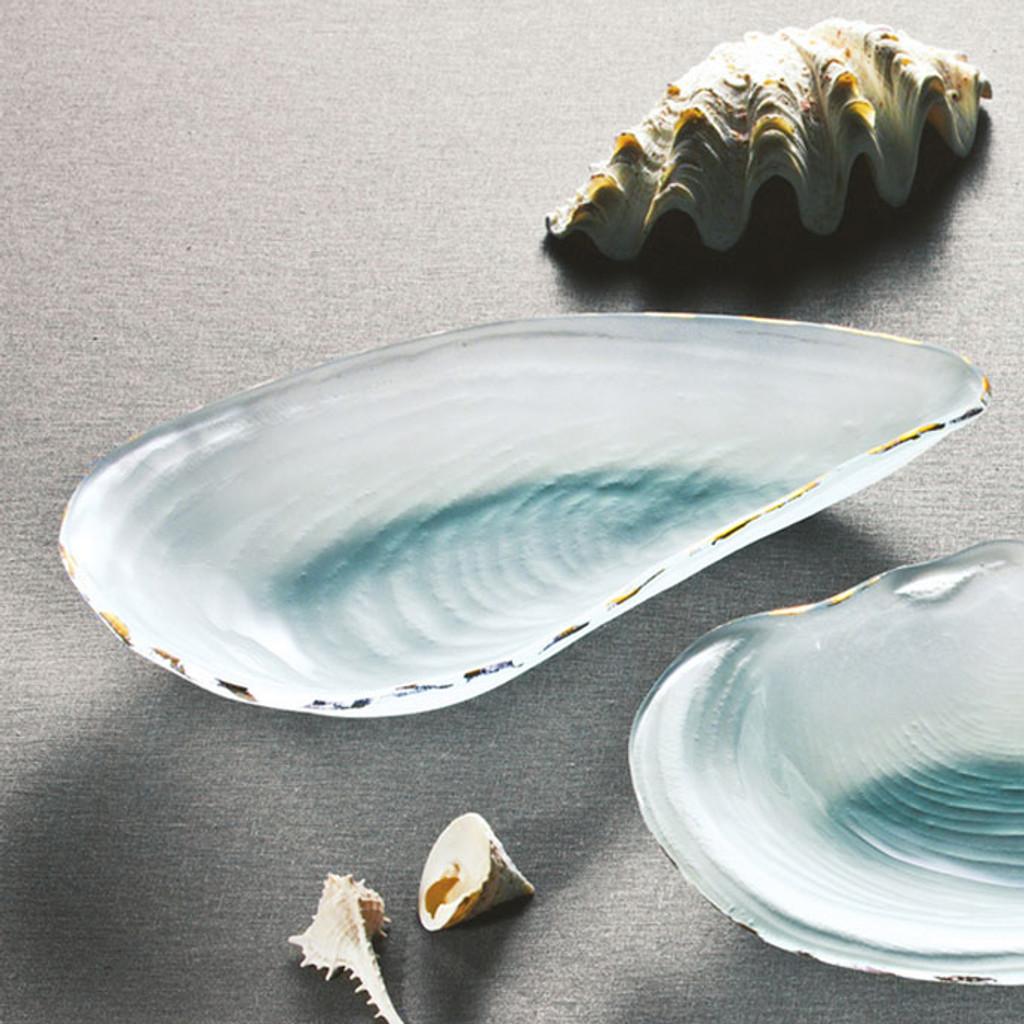 Annieglass Shells Oyster Shell Gold 11 1/2 x 6 1/2 Inch MPN: SS225G