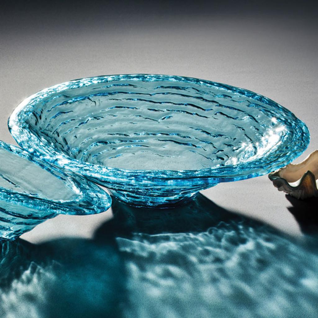 Annieglass Ultramarine Large Rimmed Serving Bowl 16 1/2 Inch MPN: U212
