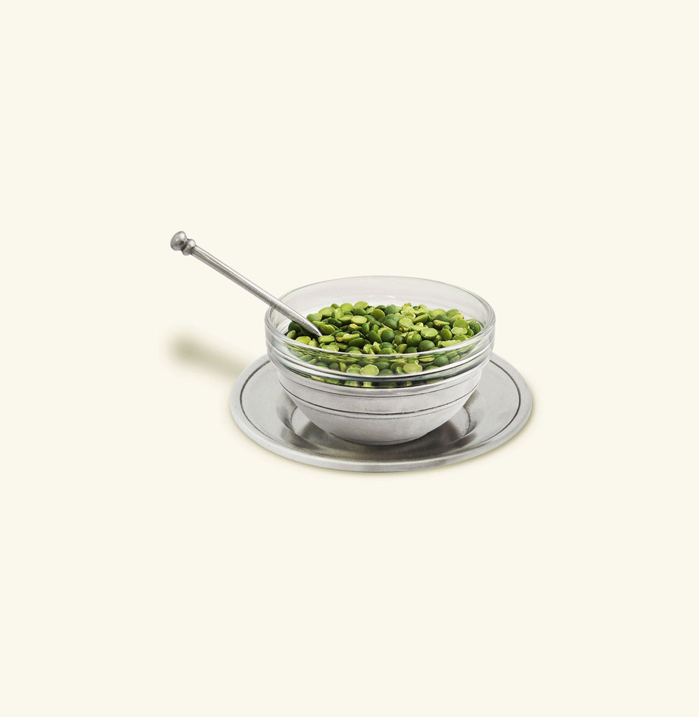 Condiment Uno With Spoon And Saucer by Match Pewter MPN: 1358.6
