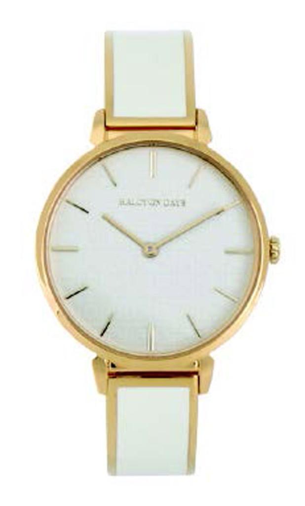 389f7b7b0ef Halcyon Days Maya Plain Bangle Watch Cream Gold WTMPS05BAG EAN:  5060171162513