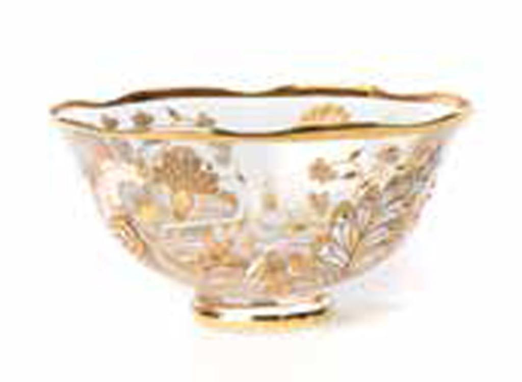 Jay Strongwater Jessa Platinum Vine Floral Small Bowl MPN: SDH2436-295