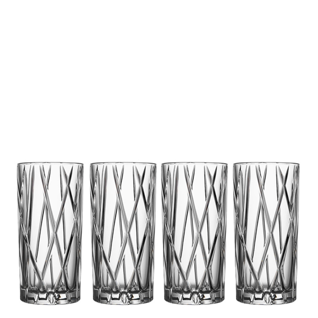 Orrefors City Highball Set Of 4  MPN: 6310336 EAN: 7321646021857