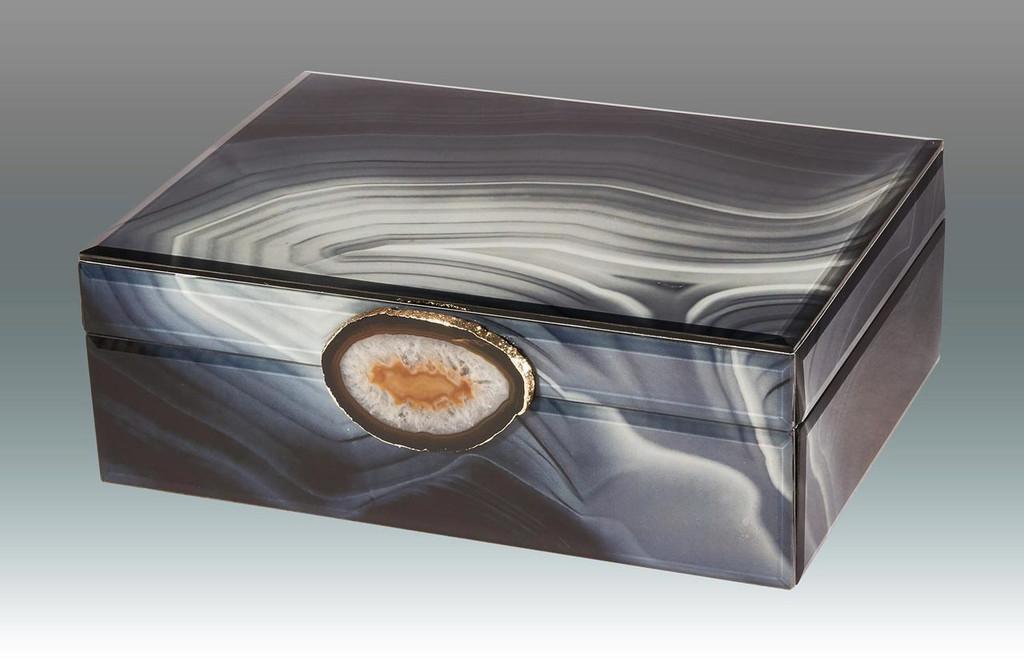 Tizo Marble Grey Waves Empty Box with Stone Small MPN: TA821GYSM, MPN: TA821GYSM