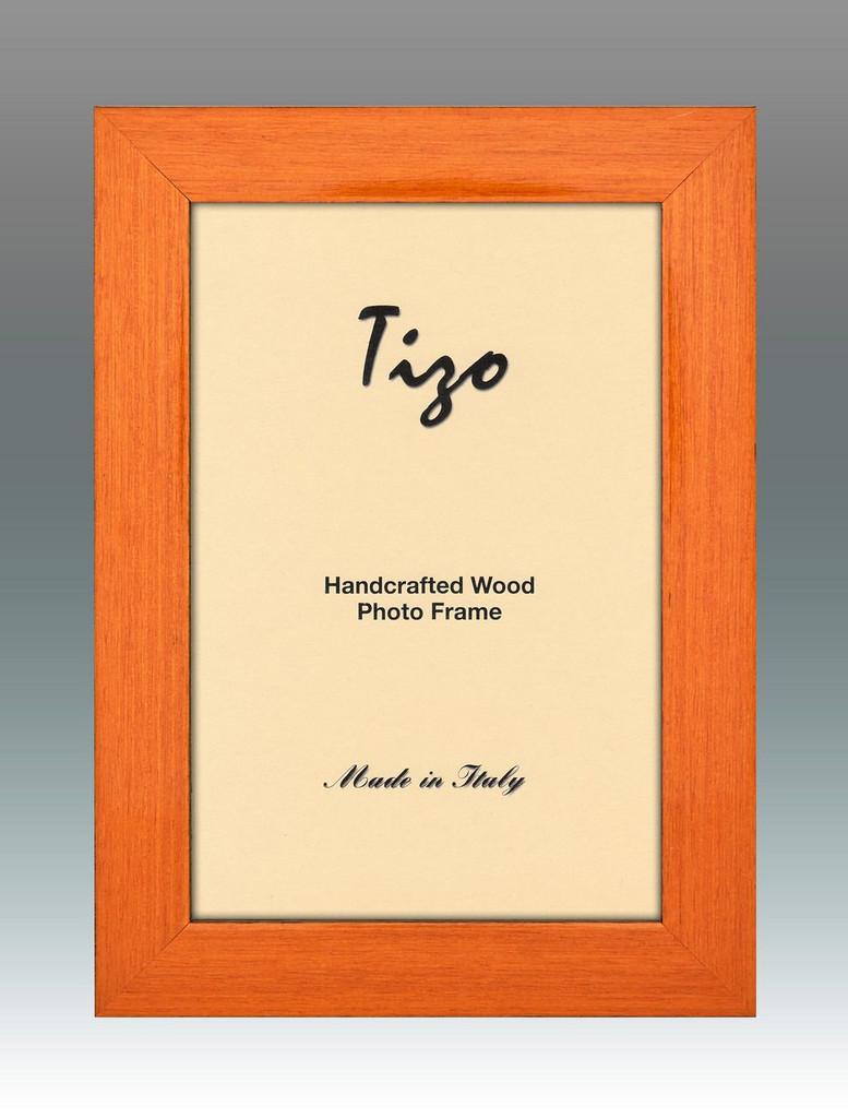 Tizo Deep Light Orange Wood Picture Frame 8 x 10 Inch MPN: 275ORA-80, MPN: 275ORA-80