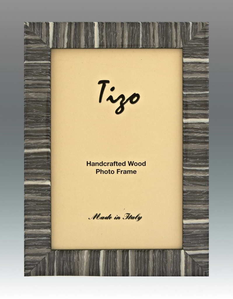 Tizo Gray Striped Wood Picture Frame 8 x 10 Inch MPN: 285GRY-80, MPN: 285GRY-80