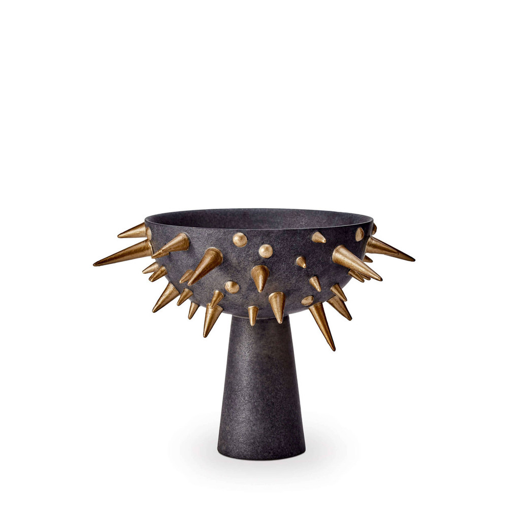 L'Objet Celestial Bowl on Stand Black Gold Small MPN: CE100