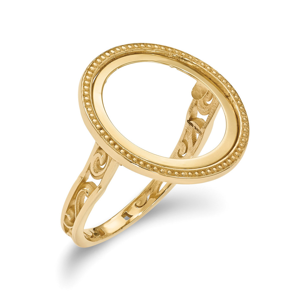 1/10AE Polished Coin Ring 14k Gold MPN: CR1/10AE