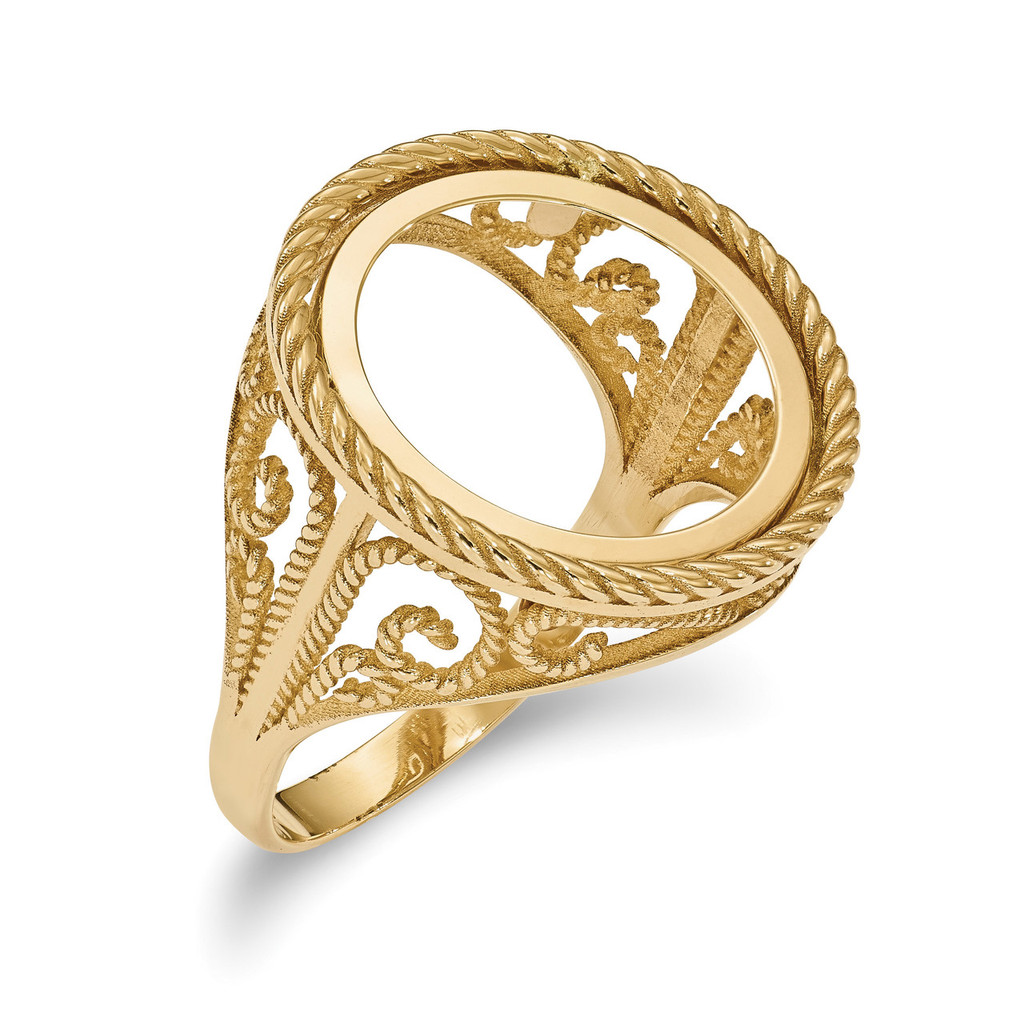 1/10AE Polished Coin Ring 14k Gold MPN: CR11/10AE