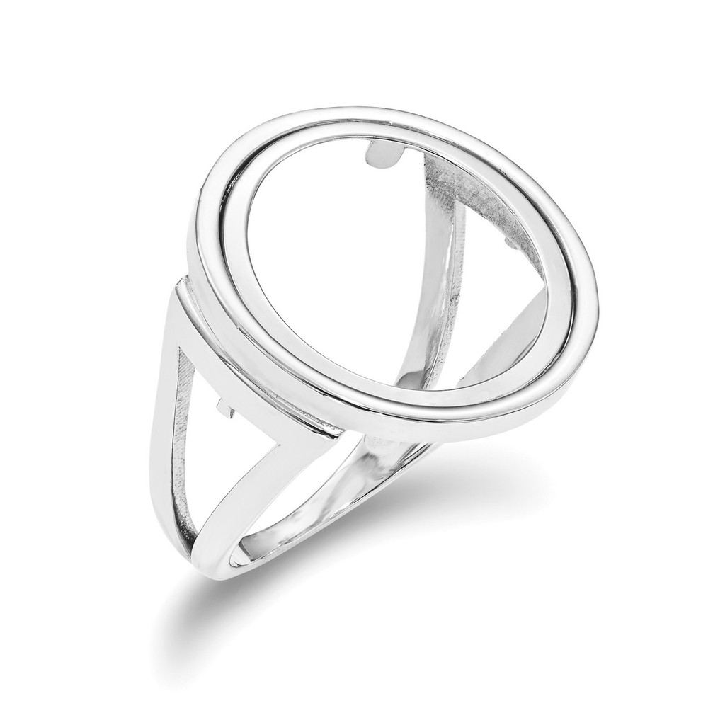 1/10AE Polished Coin Ring 14k white Gold MPN: CR13W/10AE