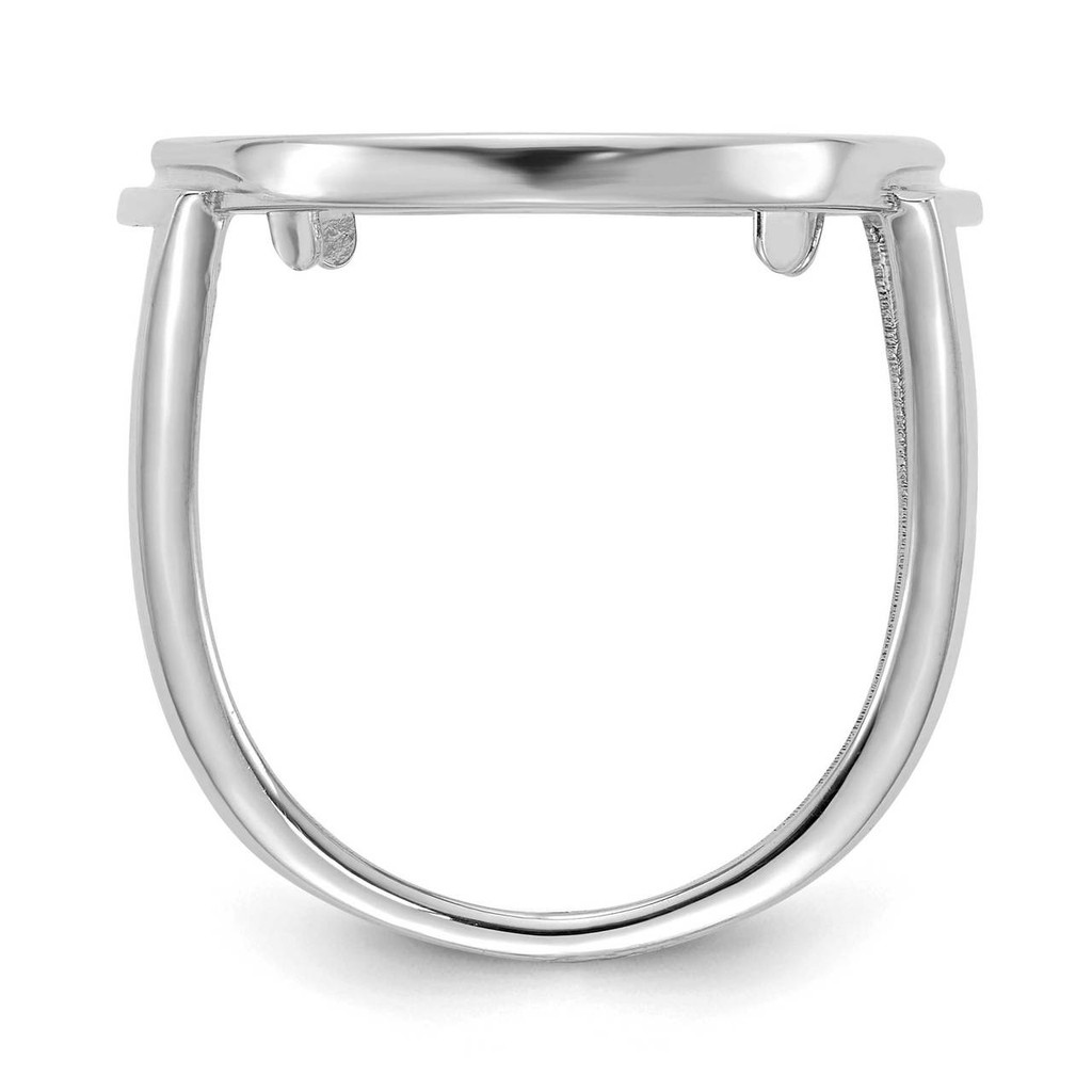 1/10AE Polished Coin Ring 14k white Gold CR13W/10AE