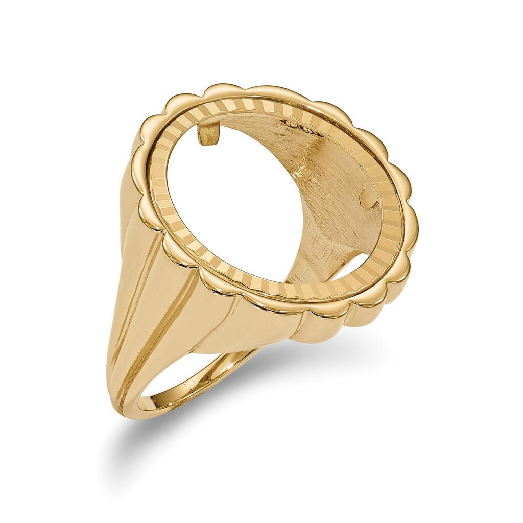 1/10AE Diamond -cut Coin Ring 14k Gold MPN: CR3D/10AE