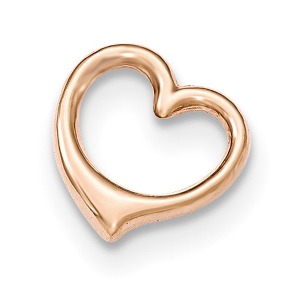 3-D Floating Heart Chain Slide 14k Rose Gold MPN: K5155 UPC: 637218171736