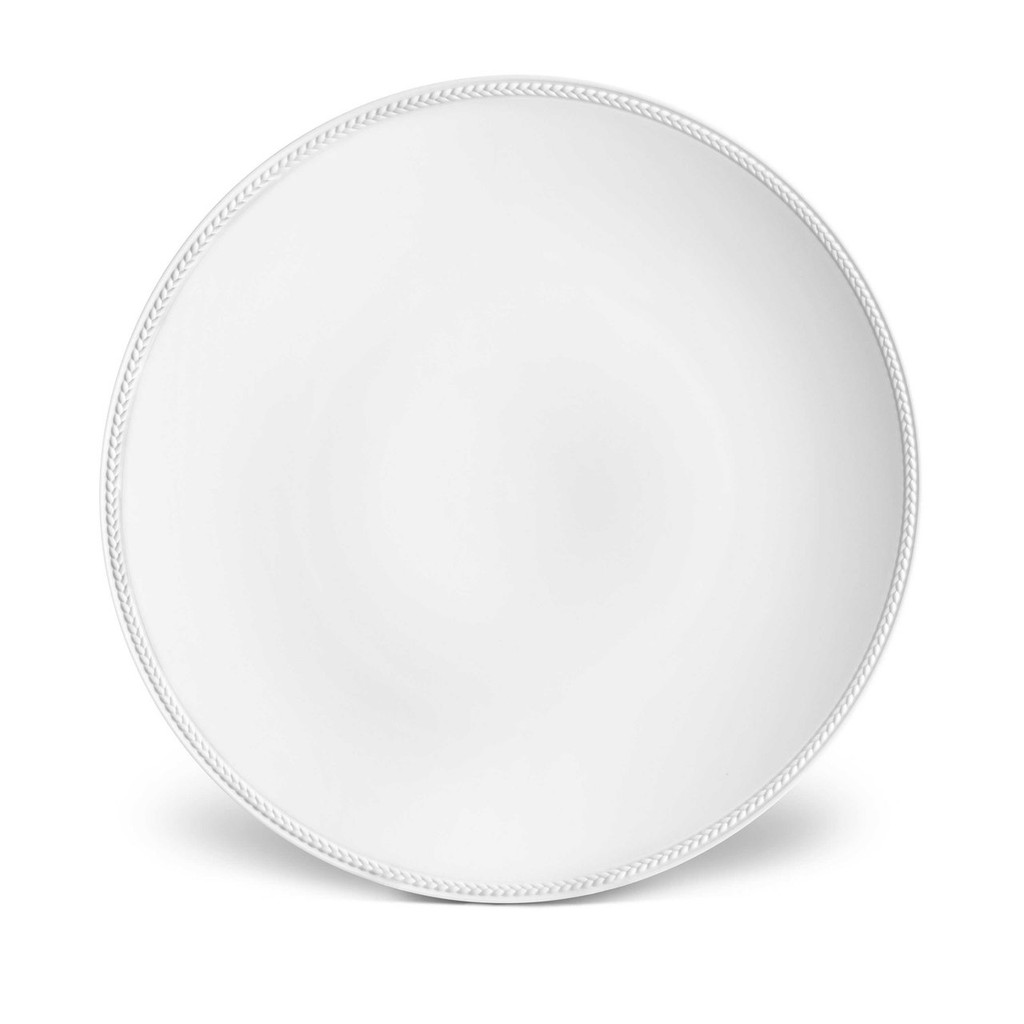 L'Objet Soie Tressee Charger 12.5 Inch - White MPN: ST100